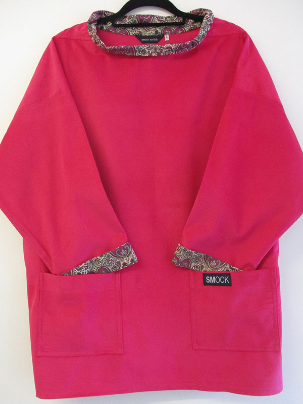 33a4fe0146 Red Cord Tunic SMOCK with Liberty Print Lining.